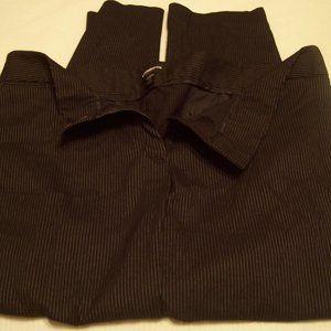 Liz Claiborne Black/White Thin-stripe Trousers 18